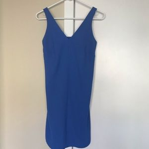Banana Republic Blue Sleeveless V Neck Midi Dress